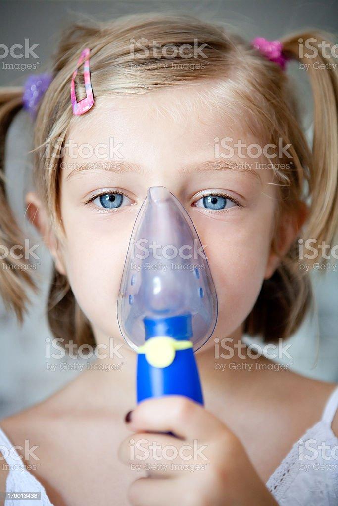 Baby with aerosol royalty-free stock photo