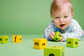 istock Baby with building blocks 75939292