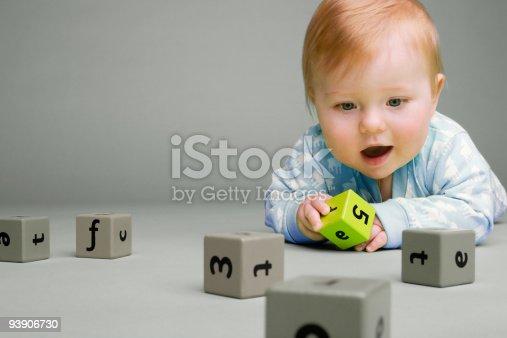 istock Baby with building blocks 93906730