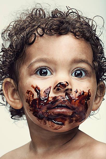 chocolate bebé - boca suja imagens e fotografias de stock