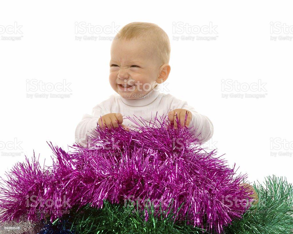 Bébé avec garland photo libre de droits