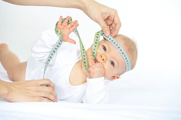 baby mit Messung Band – Foto