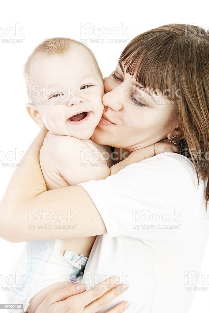 baby with mother royalty free stockfoto