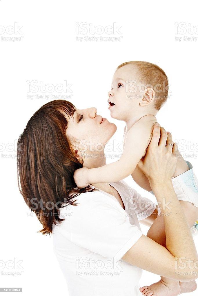 Bambino con la madre foto stock royalty-free
