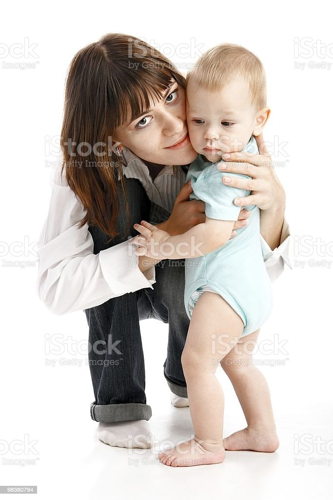 baby with mother royalty-free stock photo