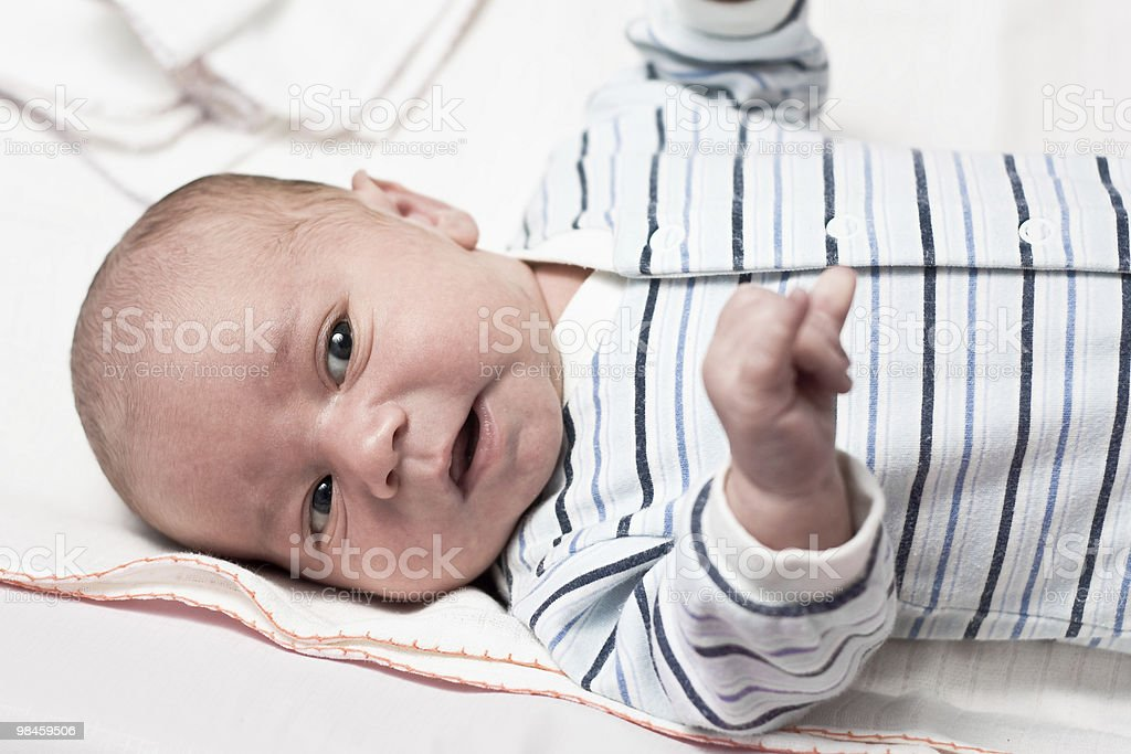 Baby with open eyes royalty-free stock photo