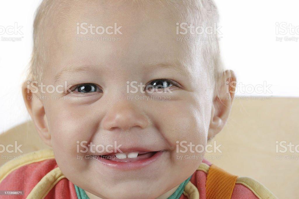 Bebé con una sonrisa. foto de stock libre de derechos