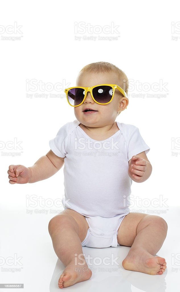 Baby with Sunglasses royalty-free stock photo