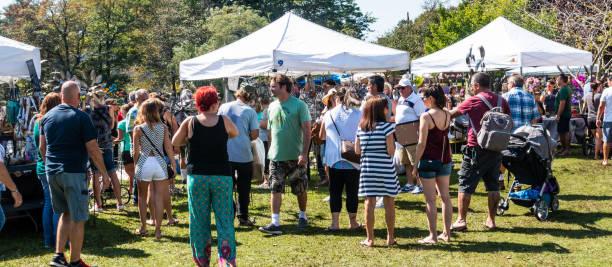 Babylon Village community fair in Argyle Park stock photo