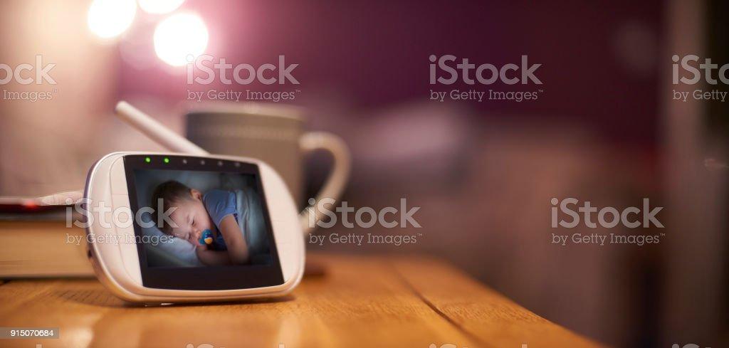 Baby's bedtime stock photo