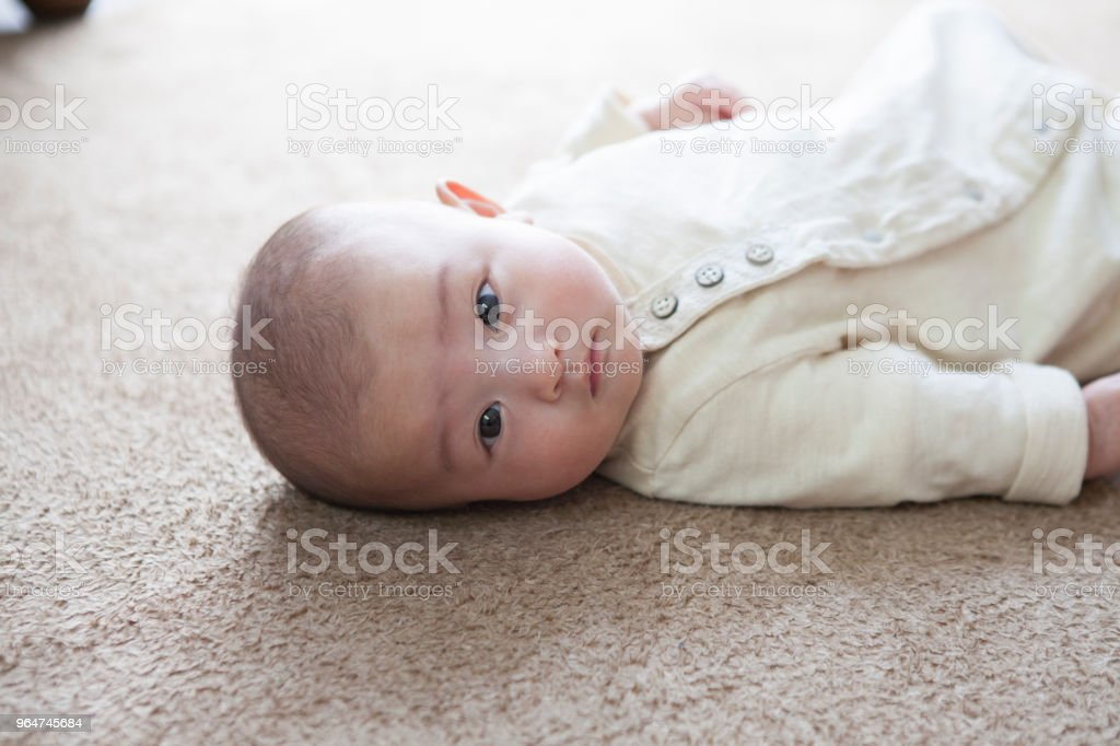 Baby's face. royalty-free stock photo