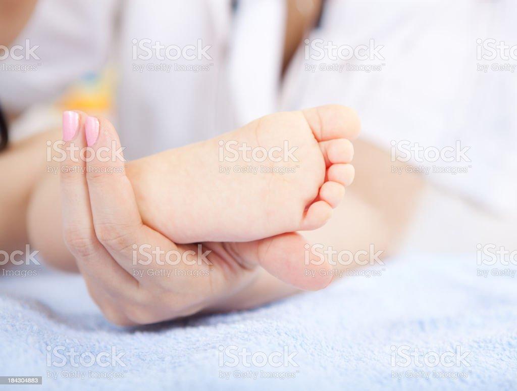 Baby's feet royalty-free stock photo