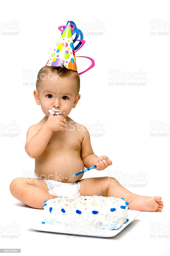 baby's first birthday royalty-free stock photo