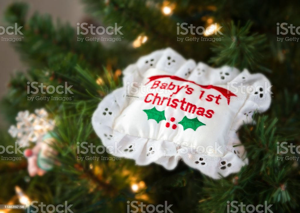 Babys First Christmas Ornament Stock Photo Download Image Now Istock