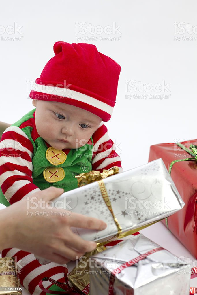 Babys First Present royalty-free stock photo