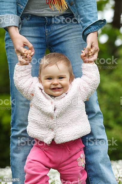 Babys First Steps Stock Photo - Download Image Now