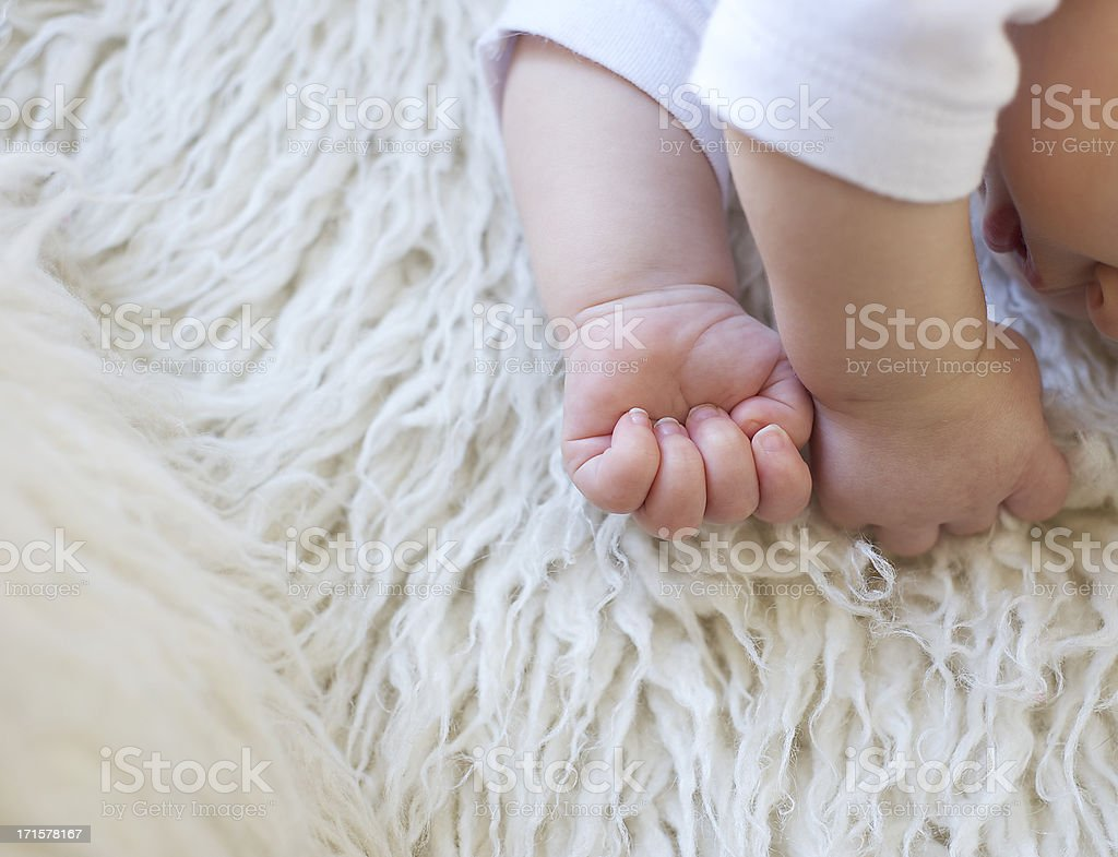 Baby's Hands royalty-free stock photo