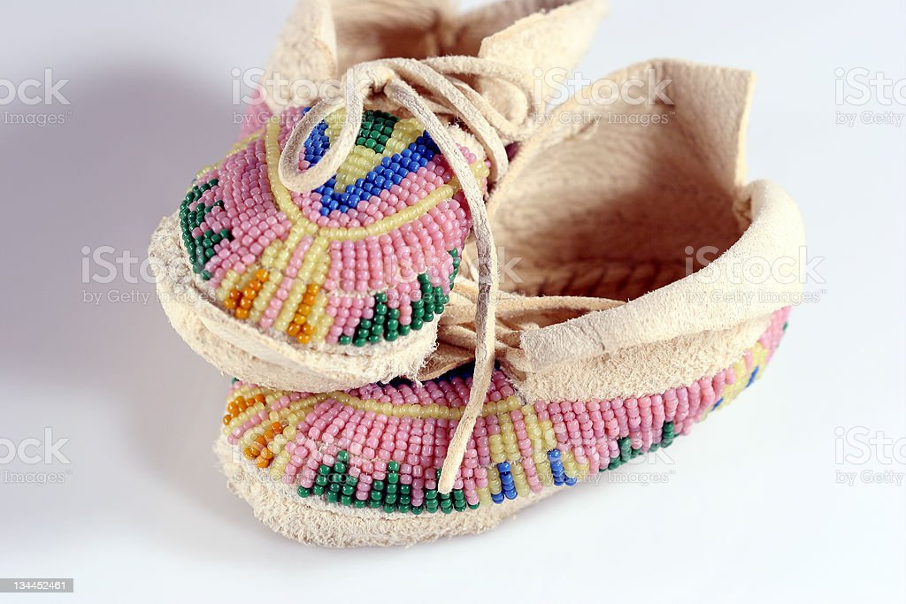 Baby's Moccasins 1 stock photo