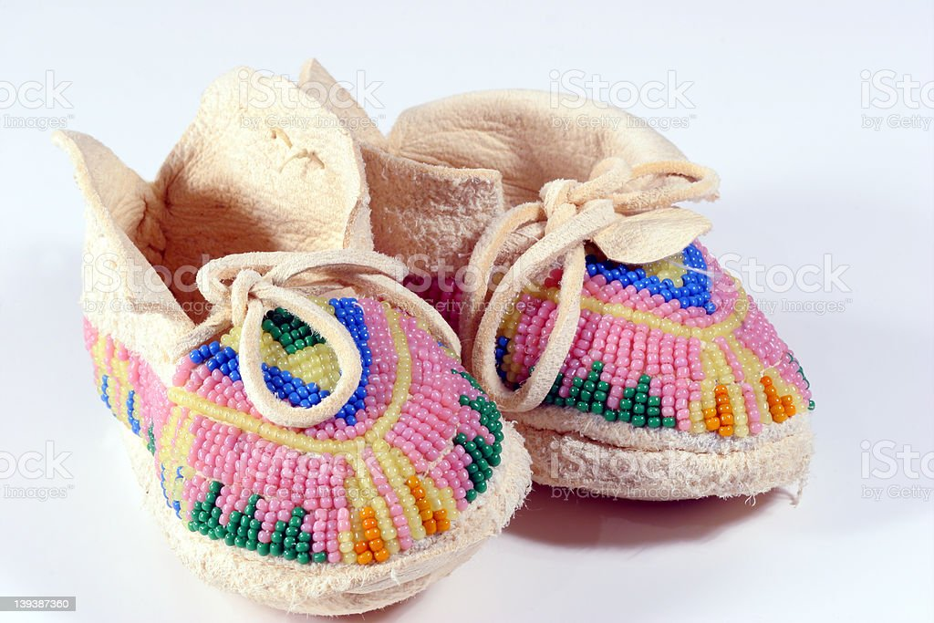 Baby's Moccasins 2 stock photo