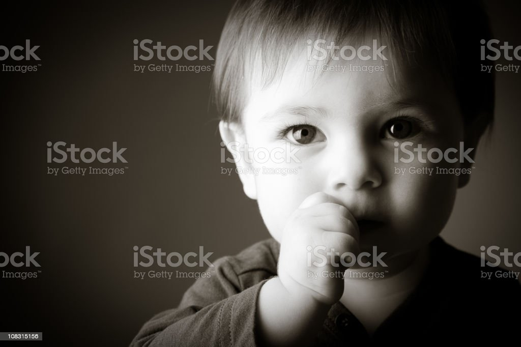 Baby's portrait looking at the camera royalty-free stock photo