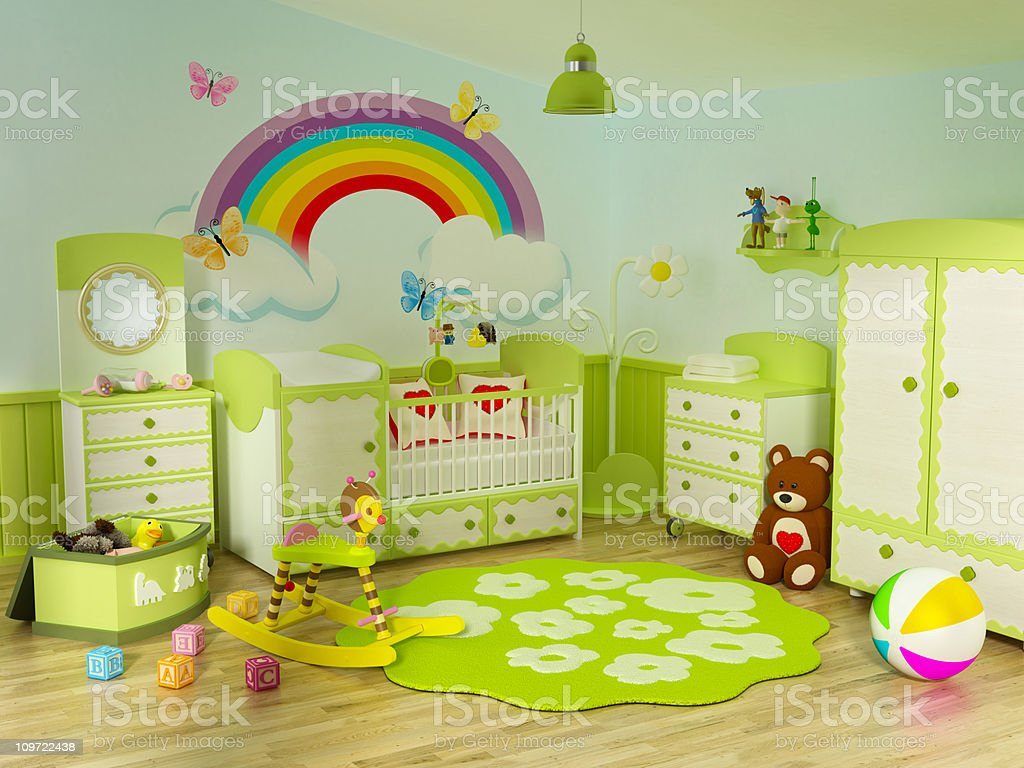 Baby's room royalty-free stock photo