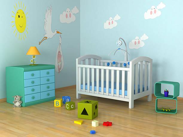 baby's zimmer - kinderzimmer wand stock-fotos und bilder