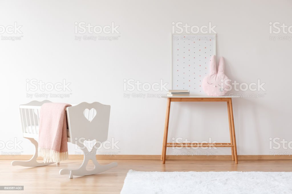 Baby's room with copy space stock photo