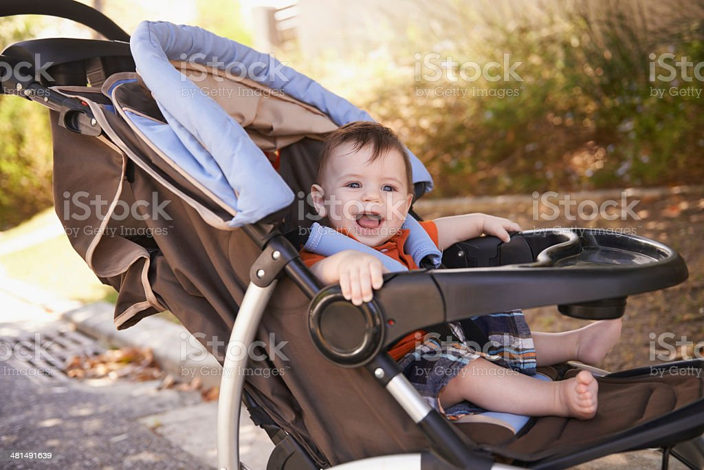 Baby's transport stock photo