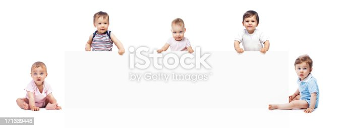 istock Baby's with banner 171339448