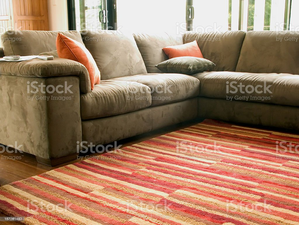 baby-safe living room stock photo