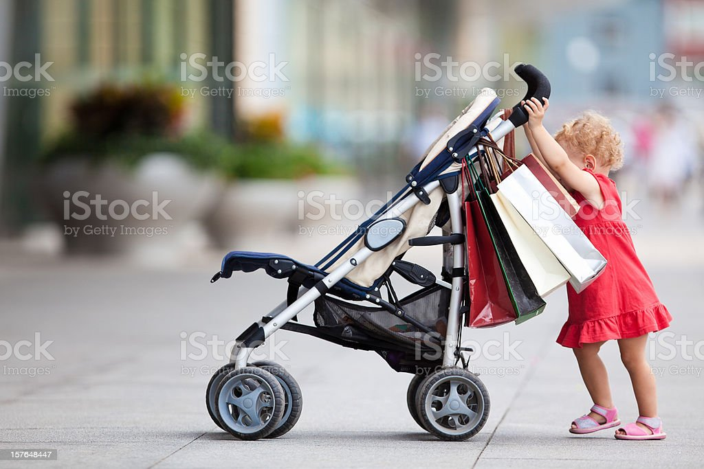 Baby-shopping royalty-free stock photo