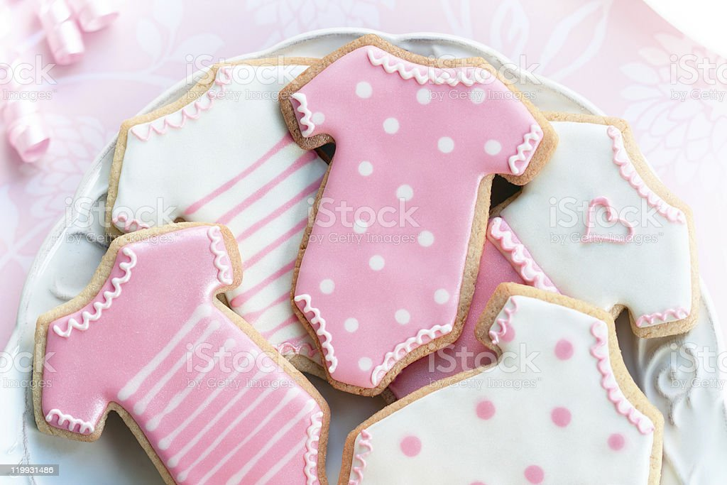Babyshower cookies stock photo