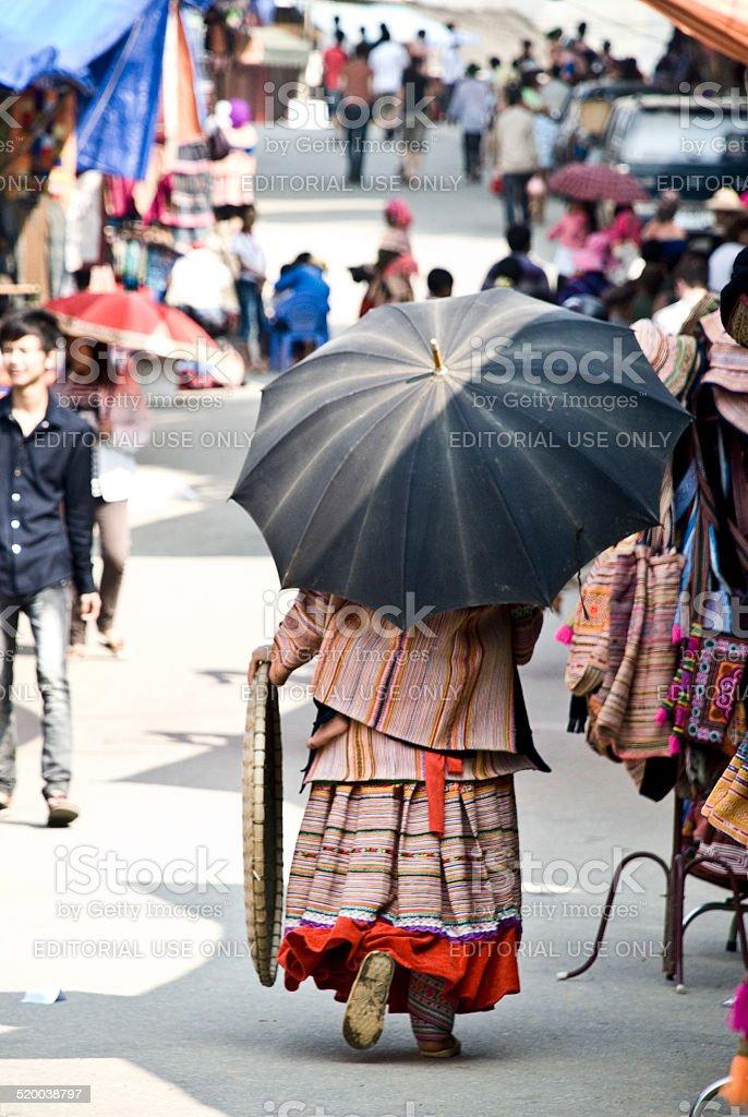 Bac Ha Market stock photo