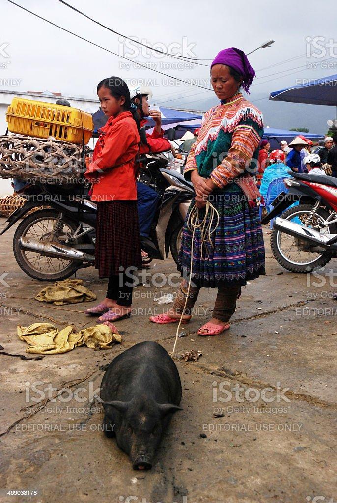 Bac Ha Market /  Vietnam stock photo
