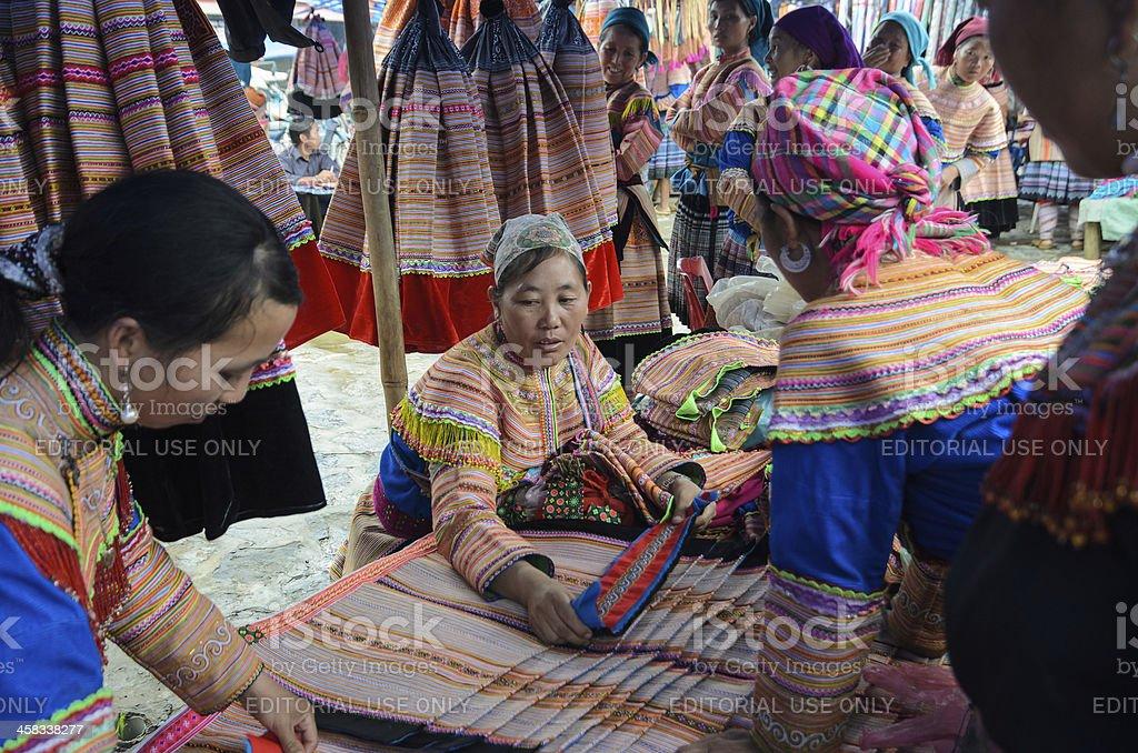 Bac Ha Sunday Market in Lao Cai province, Vietnam stock photo