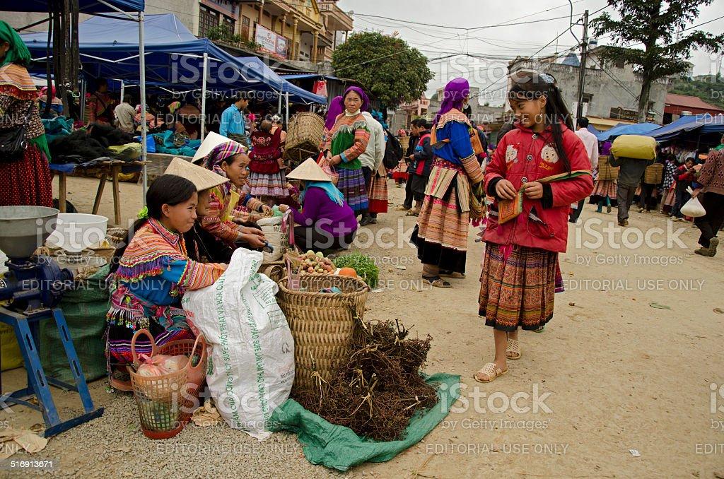 Bac Ha Sunday Market (1) stock photo