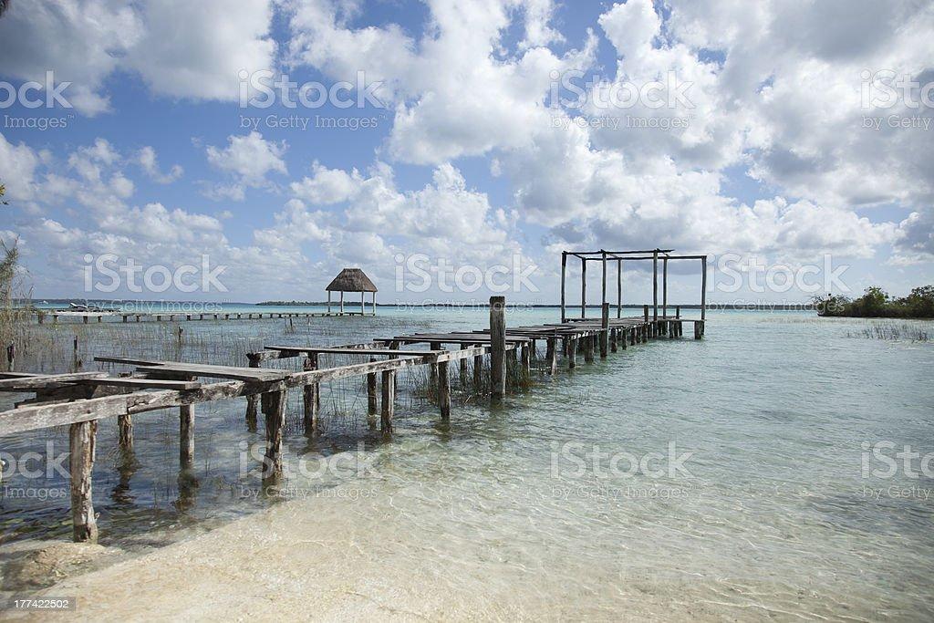 Bacalar lagoon, Mexico stock photo