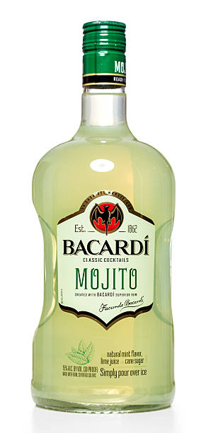Bacardi Classic Cocktails Mojito bottle stock photo