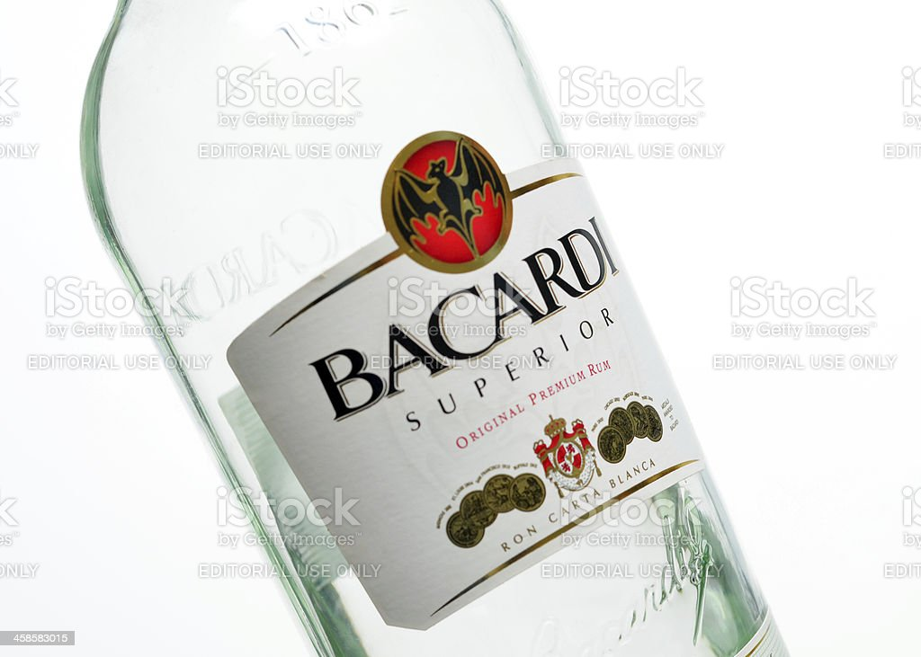 Bacardi Rum stock photo