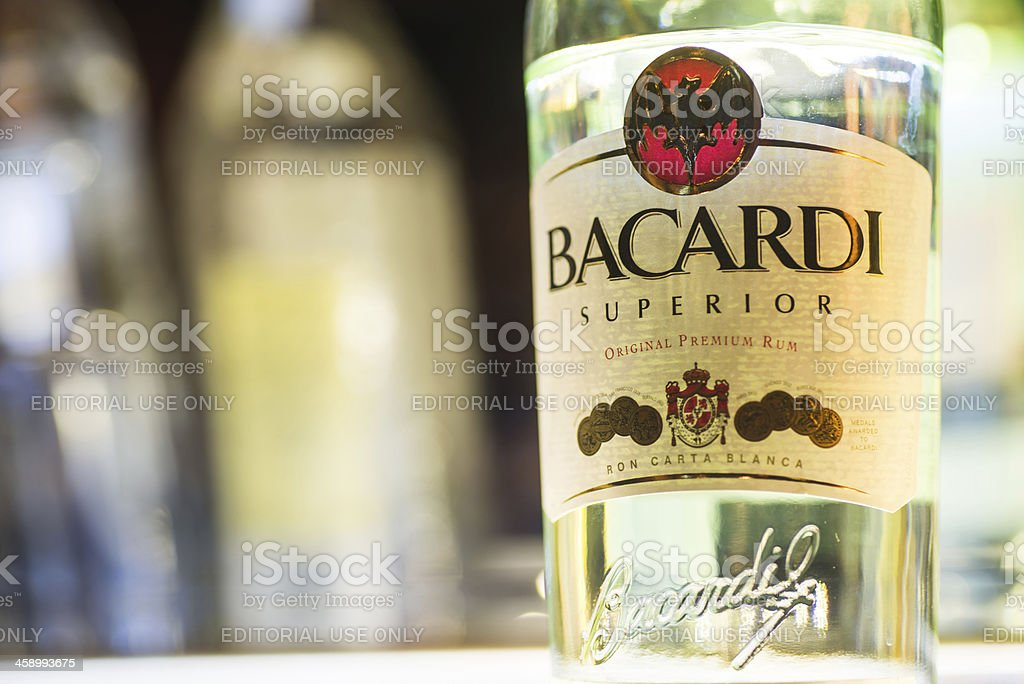 Bacardi Superior Rum royalty-free stock photo