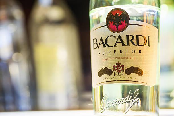 Bacardi Superior Rum stock photo