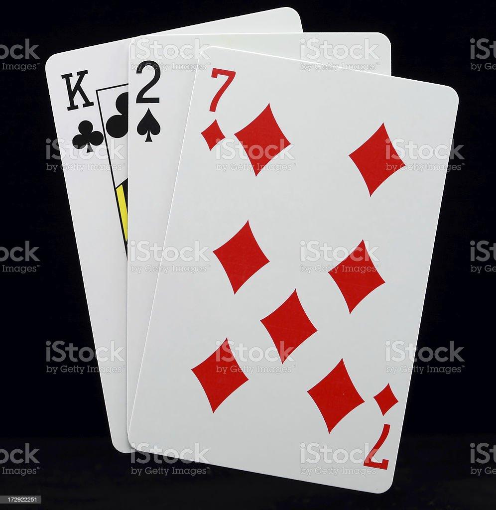 Baccarat Chemin de Fer card game stock photo
