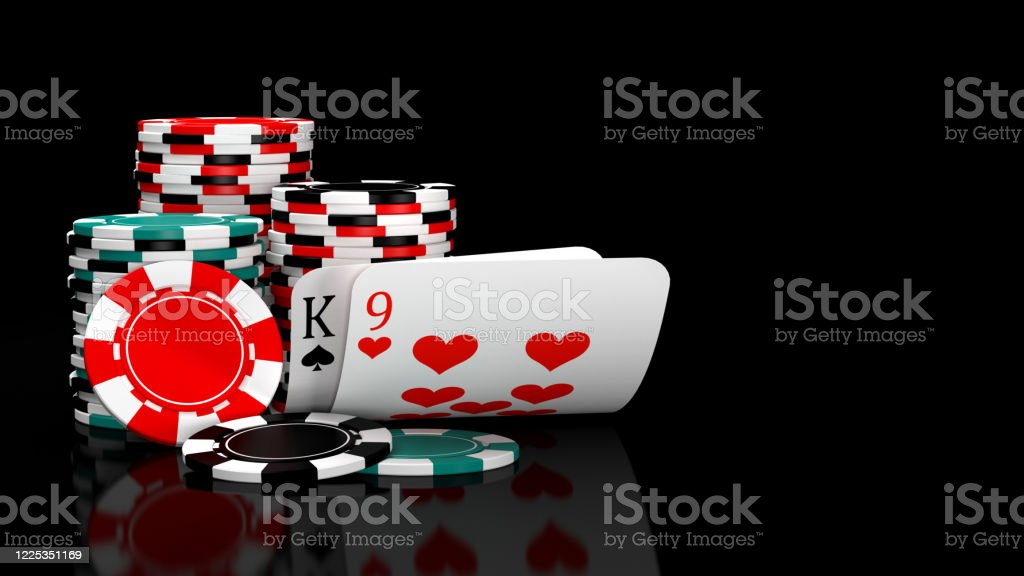 Baccarat Game Card Combination Natural 9 With Casino Chips Stock Photo -  Download Image Now - iStock