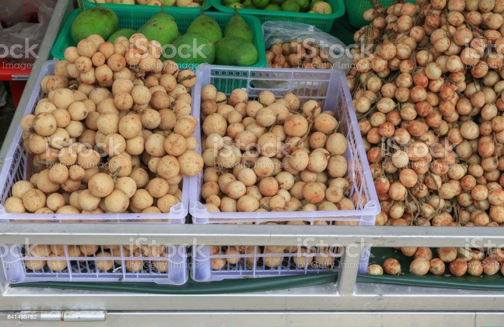 Baccaurea ramiflora Lour ou raisin birman, doux et aigre Asie fruitiers locaux. - Photo