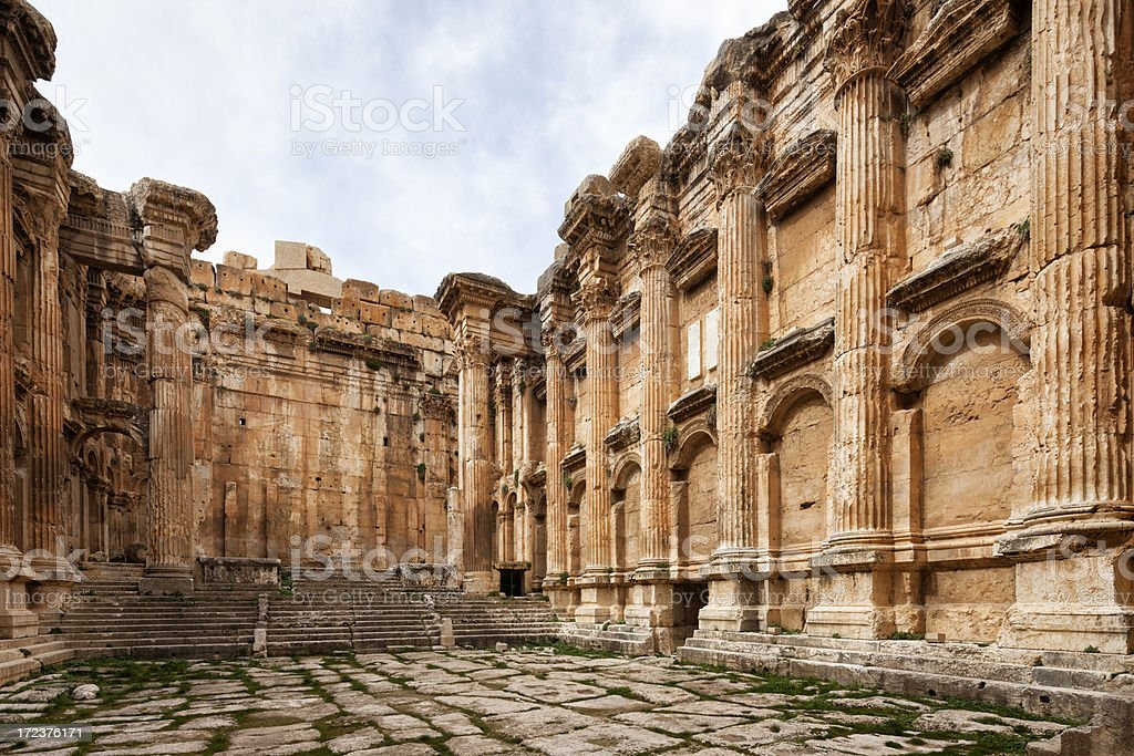 Bacchus Temple, Baalbek, Bekaa Valley, Lebanon royalty-free stock photo