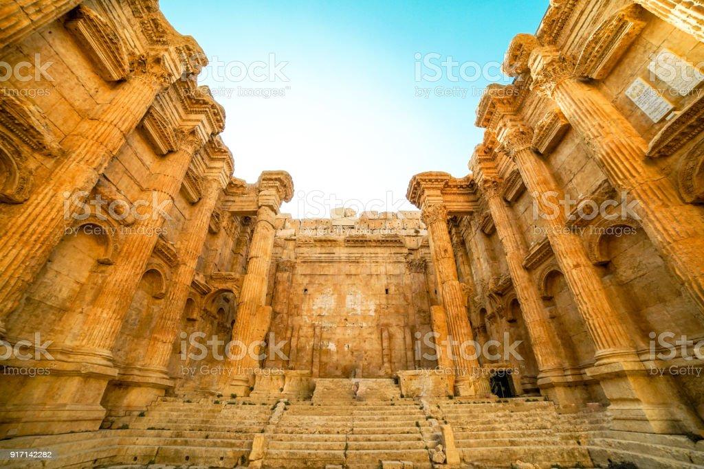 Bacchus Temple in Baalbek, Lebanon stock photo