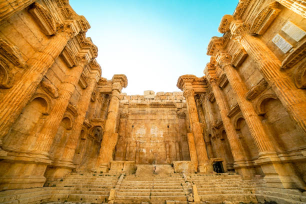 Bacchus Temple in Baalbek, Lebanon Bacchus Temple in Baalbek, Lebanon beirut stock pictures, royalty-free photos & images