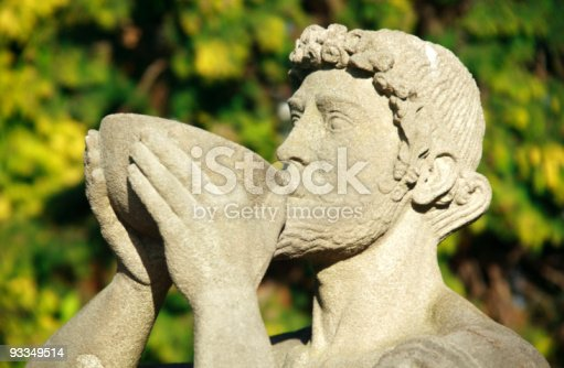 Statue of Bacchus the Roman god of agriculture and wine, similar to the Greek Dionysus