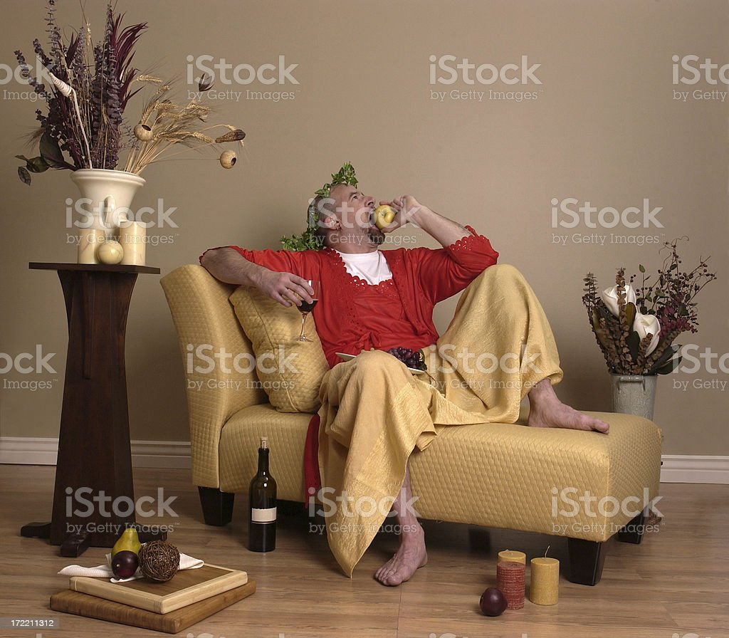 Baccus, The God of Wine royalty-free stock photo