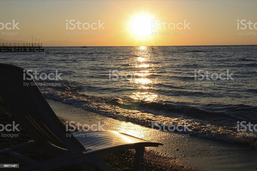 Bach at sunset royalty-free stock photo